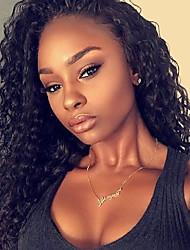 billige -Remy hår Blonde Front Paryk Kinky Curly 180% Massefylde 100 % håndbundet Afro-amerikansk paryk Natural Hairline Faux Locs Paryk Kort