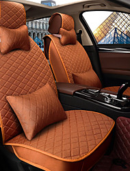 Car Seat Cushion Seat Cover Seat Four Seasons General Flax Surrounded By A Five Seat Family Car To Send 2 Head 2 Waist Orange