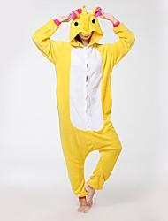 cheap -Kigurumi Pajamas Flying Horse Unicorn Onesie Pajamas Costume Flannel Fabric Yellow Cosplay For Adults' Animal Sleepwear Cartoon Halloween