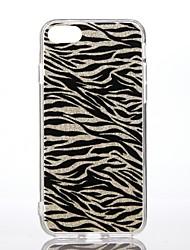 Caso para el iphone 7 7 de la manzana más la PC dura dura del brillo del brillo del brillo del brillo de la impresión del leopardo del