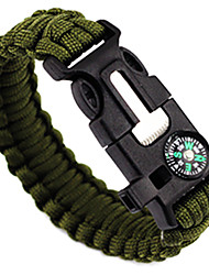 cheap -Survival Bracelet Fire Starter Compasses Paracord Whistle Hiking Camping Travel Outdoor Multi Function 5 in 1 Nylon pcs