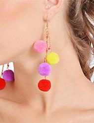 Women's Drop Earrings Hoop Earrings Multi Layer Sexy Handmade Fashion Bohemian Alloy Ball Jewelry For Daily Beach Club Street Festival