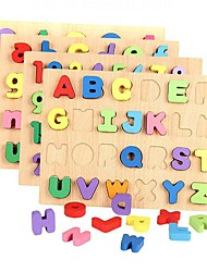 Educational Toy Jigsaw Puzzle Toys Rectangular Number Letter Boys Girls Pieces