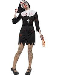 abordables -Bloody Mary Robes Costume de Cosplay Femme Halloween Carnaval Le jour des morts Fête / Célébration Déguisement d'Halloween Noir/blanc