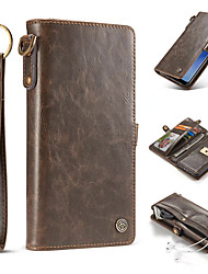 Case Samsung Galaxy S8 Plus S8 Card Holder Wallet Magnetic Full Body Solid Color Hard Genuine Leather