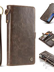 economico -Custodia Per Samsung Galaxy S8 Plus S8 A portafoglio Porta-carte di credito A calamita Integrale Tinta unica Resistente Vera pelle per S8