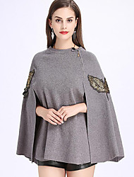 cheap -Knitwear Wedding Women's Wrap With Animal Print Capes Elegant Style