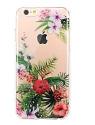 Недорогие -Чехол для iphone 7 6 цветка tpu мягкая ультратонкая задняя крышка чехол для iphone 7 плюс 6 6s плюс se 5s 5 5c 4s 4