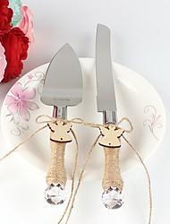 baratos -conjunto de faca de bolo de anjo do estilo Bewe que serve conjuntos de recepção de casamento