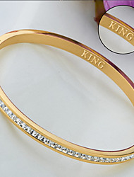 cheap -Personalized Gift Bracelet Zircon Titanium Steel Women's Glitters Geometric Jeweled Nature Inspired Casual Glamorous & Dramatic Fashion