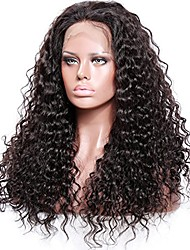 cheap -Remy Human Hair Lace Front Wig / Glueless Lace Front Wig 150% / 180% Density Natural Hairline / African American Wig / 100% Hand Tied Women's Medium Length / Long Human Hair Lace Wig