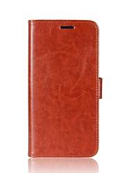 economico -Custodia per huawei p10 plus p10 lite portabicchiere portacarta con telaio completo rivestimento in pelle solida colore solido per huawei