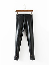 Da donna A vita medio-alta Moda città Media elasticità magro Pantaloni,Taglia piccola Skinny Tinta unita
