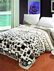 Недорогие -Фланель Геометрические линии Хлопчатобумажная ткань одеяла