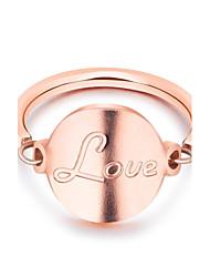 preiswerte -Damen bezaubernd Titanstahl Bandring - Kreisform Elegant / Modisch Rotgold Ring Für Hochzeit / Verlobung / Alltag