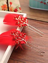 baratos -Imitação de Pérola Pena Liga Flores Cabelo da vara Acessórios para Cabelos Capacete