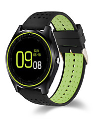 HHY New Smart Wearable V9 Round Screen Heart Rate Monitoring Adults Sports Bluetooth Phone Smart Reminder Watch Bracelet Built-In Android System