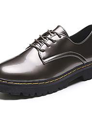 preiswerte -Damen Flache Schuhe Komfort PU Sommer Normal Walking Schnürsenkel Flacher Absatz Schwarz Grau Braun 5 - 7 cm