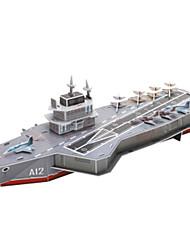 baratos -Quebra-Cabeças 3D Quebra-Cabeça Barco de Guerra Porta-Aviões Papel Crianças Unisexo Dom