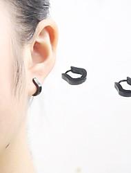 abordables -Hombre Mujer Pendientes cortos Pendients de aro Personalizado Punk Rock Hipoalergénico Estilo Simple Acero inoxidable Forma Geométrica