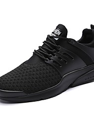 Men's Sneakers Light Soles Summer Fall Knit Athletic Casual Outdoor Low Heel White Black Ruby Under 1in