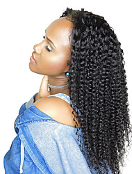 cheap -Remy Human Hair Full Lace Wig Malaysian Hair Kinky Curly With Baby Hair 120% Density 100% Hand Tied Natural Hairline 10 inch 12 inch 14