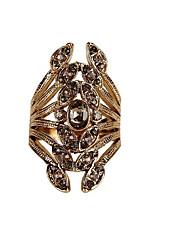 preiswerte -Damen Strass Aleación - Geometrische Form / Irregulär Modisch Gold / Silber Ring Für Hochzeit / Party / Neues Baby