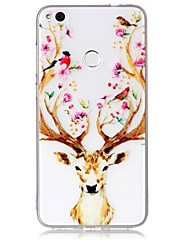 cheap -Case For Huawei P10 P10 Lite Case Cover Deer Head Pattern Feel Varnish Relief High Penetration TPU Material Phone Case For Huawei P8 Lite (2017)