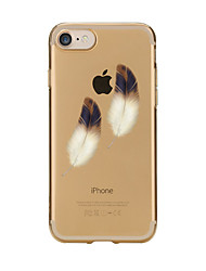 abordables -Para iPhone 7 iPhone 7 Plus Carcasa Funda Transparente Diseños Cubierta Trasera Funda Plumas Suave TPU para Apple iPhone 7 Plus iPhone 7