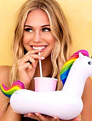cheap -Inflatable Unicorn Floating Cup Holder For Beverage Boats Stand Holder Party Supplies