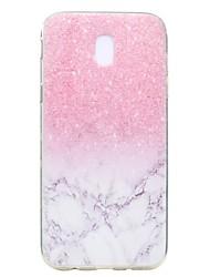 economico -Custodia Per Samsung Galaxy J7 (2017) J3 (2017) Transparente Fantasia/disegno Custodia posteriore Effetto marmo Morbido TPU per J7 (2016)