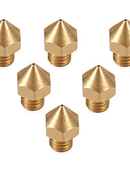 Anet 3D Printer Part Extruder Brass Nozzle Head 6 Six Sizes  0.2mm/0.3mm/0.4mm