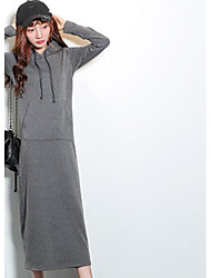 Women's Sports Going out Casual/Daily Simple Active Boho Hoodie Solid Hooded Fleece Lining Micro-elastic Cotton Linen Acrylic Long Sleeve