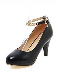 Недорогие -Для женщин Обувь на каблуках Удобная обувь Оригинальная обувь Весна Осень Дерматин Полиуретан Для праздника Для вечеринки / ужина Пряжки