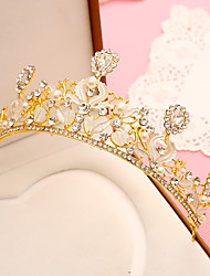 abordables -rhinestone aleación plástica tiaras diademas casco estilo elegante