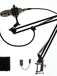 BM700 Professional Capacitance Studio Microphone KTV Karaoke Microphone with Phantom Power  Stand Holder Pop Filter