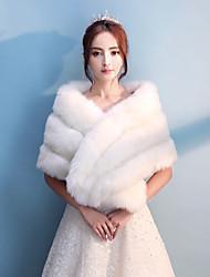economico -capel in pelliccia ecologica / cappelli avvolgenti da sera stile elegante