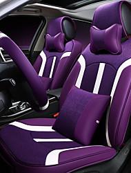 Coussin de siège de voiture housse de siège en cuir de lin quatre sièges généraux entourés par cinq repose-pieds 2 hauteur 2 taille en