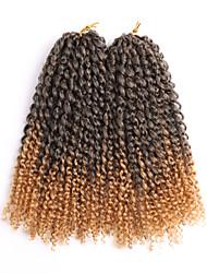 economico -Riccio Treccine a boccoli Capelli 100% Kanekalon 2pcs / pack Ricci intrecciati Trecce di capelli