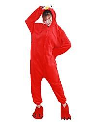 Kigurumi Pyjamas Karton Kostüm Blau Rot Flanell Cosplay Kostüme Schuhe Kigurumi Gymnastikanzug / Einteiler Cosplay Fest / Feiertage