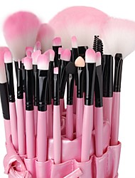 cheap -32pcs Makeup Brushes set Professional Pink Powder/Foundation/Concealer/Blush brush Shadow/Eyeliner/Lip Brush Makeup Kit with Holder Bag