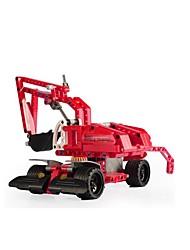 DIY KIT Building Blocks Educational Toy Pull Back Car/Inertia Car Excavator Toys Excavating Machinery Pieces Kid's Children's Gift
