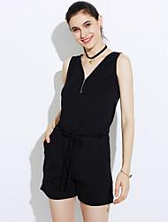 Damer Simple Sexet Afslappet/Hverdag I-byen-tøj Sparkedragter Alm. taljede Tynd Ensfarvet Efterår Sommer