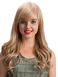 cheap -Prevailing  Ethereal  Oblique Fringe Long Wave  Human Hair Wigs
