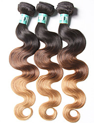 3 Bundles Brazilian Ombre Hair Body Wave Human Hair Weaves 100 Grams Per Bundles Color 1B/4/27