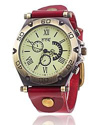 Per uomo Orologio alla moda Orologio braccialetto Creativo unico orologio Orologio casual Cinese Quarzo Pelle Banda Vintage Casual classe