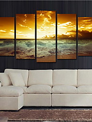 cheap -Landscape Modern,Five Panels Canvas Horizontal Print Wall Decor For Home Decoration