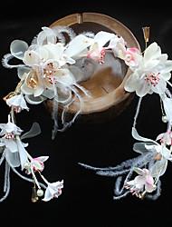 economico -stile elegante del copricapo dei fiori delle fasce della seta del tessuto chiffon della piuma
