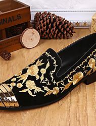 abordables -Homme Chaussures Daim Hiver Automne Moccasin Mocassins et Chaussons+D6148 pour Décontracté Bureau et carrière Soirée & Evénement Noir