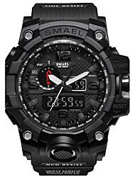 Недорогие -SMAEL Муж. Спортивные часы Армейские часы электронные часы Японский Цифровой 50 m Защита от влаги Календарь Секундомер PU силиконовый Группа Аналого-цифровые На каждый день Мода / Два года